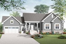 Country Exterior - Front Elevation Plan #23-2516