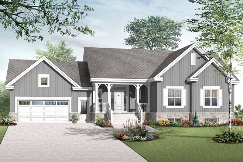 Architectural House Design - Country Exterior - Front Elevation Plan #23-2516