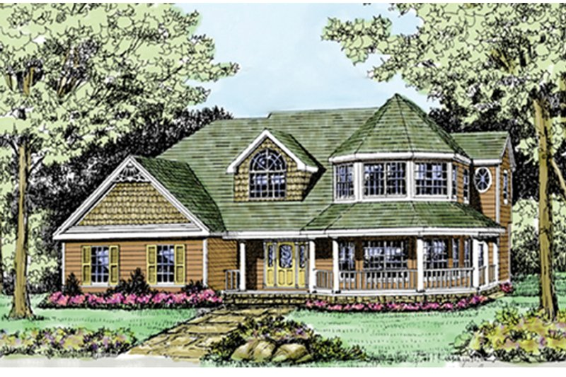 Country Exterior - Front Elevation Plan #314-268 - Houseplans.com