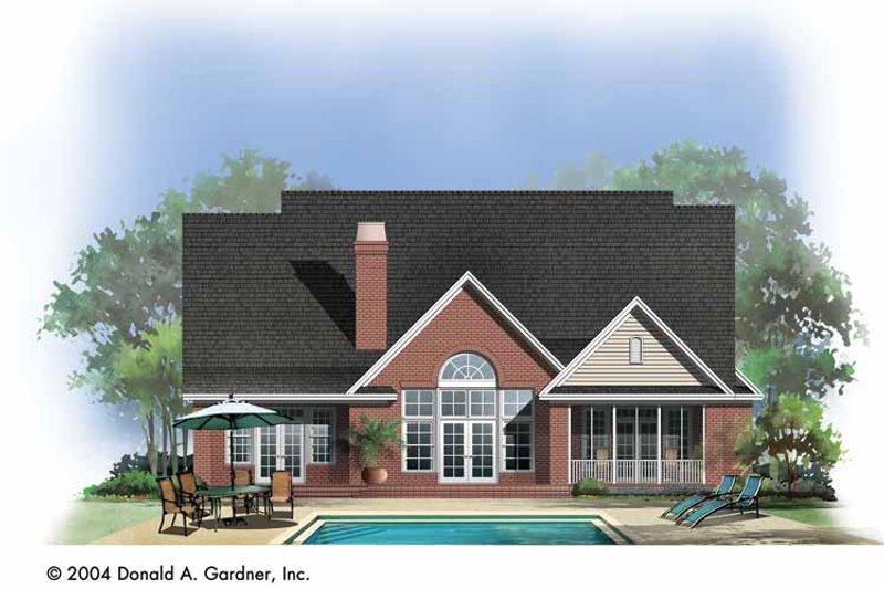Traditional Exterior - Rear Elevation Plan #929-738 - Houseplans.com