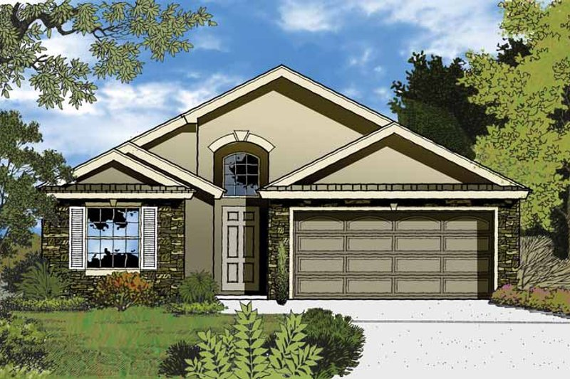 Country Exterior - Front Elevation Plan #1015-36 - Houseplans.com