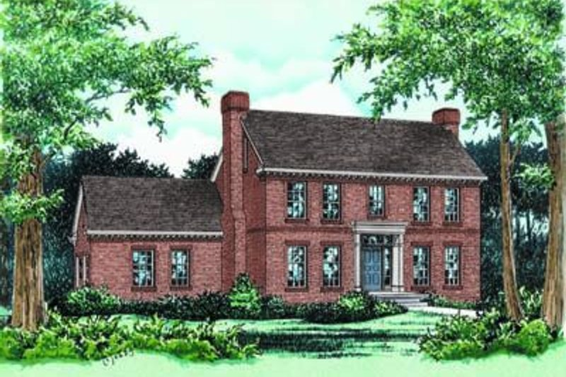 Colonial Exterior - Front Elevation Plan #20-674