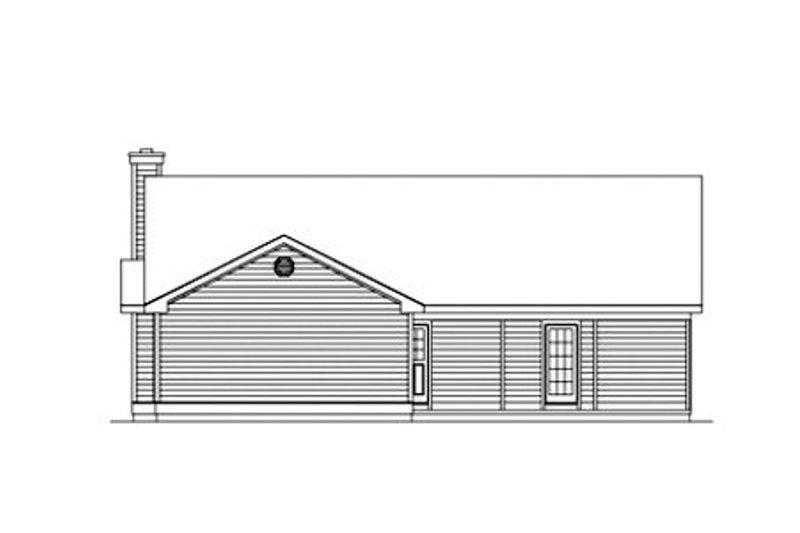 Farmhouse Exterior - Rear Elevation Plan #57-117 - Houseplans.com