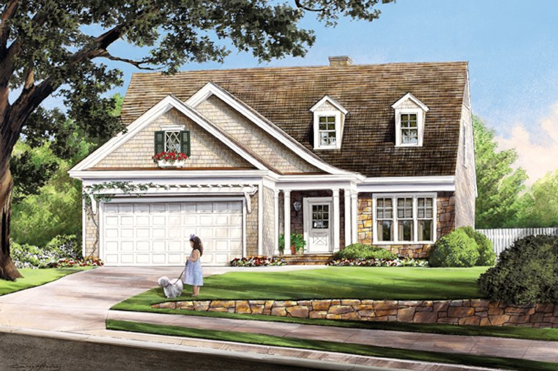Home Plan - Traditional Exterior - Front Elevation Plan #137-361