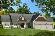 Ranch Style House Plan - 3 Beds 2 Baths 2212 Sq/Ft Plan #1010-193 Exterior - Front Elevation