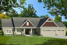 Home Plan - Ranch Exterior - Front Elevation Plan #1010-193