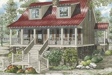 Country Exterior - Front Elevation Plan #17-3270