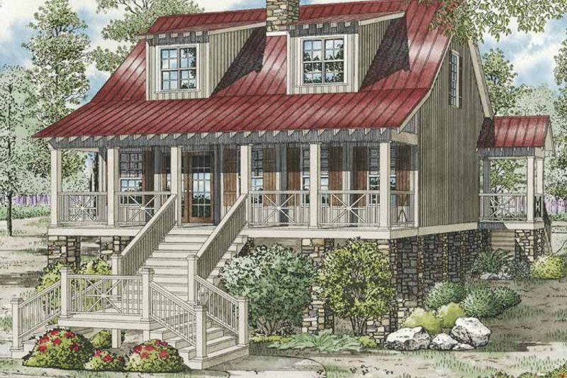 Country Exterior - Front Elevation Plan #17-3270 - Houseplans.com