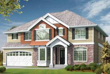 Craftsman Exterior - Front Elevation Plan #132-435