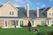 Dream House Plan - Traditional Exterior - Rear Elevation Plan #45-411
