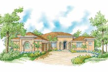 House Plan Design - Mediterranean Exterior - Front Elevation Plan #930-420