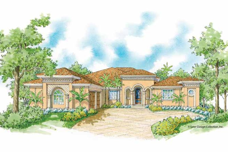 Mediterranean Exterior - Front Elevation Plan #930-420