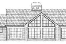 Home Plan Design - Traditional Exterior - Rear Elevation Plan #72-139