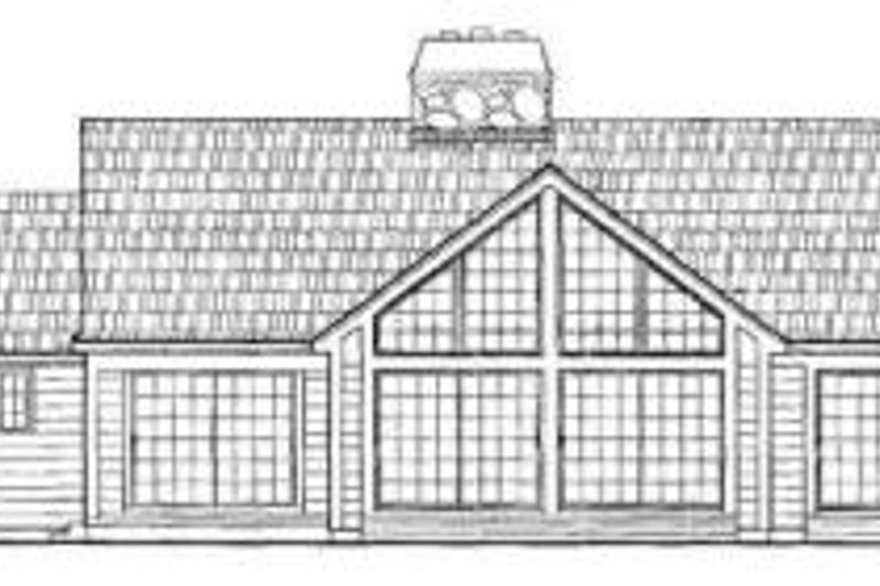 Traditional Exterior - Rear Elevation Plan #72-139 - Houseplans.com