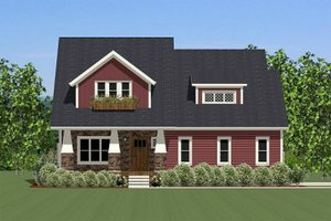Farmhouse Exterior - Front Elevation Plan #898-18