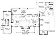 Farmhouse Style House Plan - 3 Beds 2.5 Baths 1954 Sq/Ft Plan #1074-10 Floor Plan - Main Floor Plan