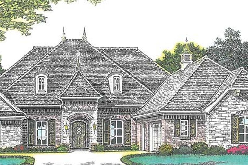 Country Exterior - Front Elevation Plan #310-1269 - Houseplans.com