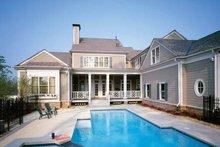 House Plan Design - Colonial Exterior - Rear Elevation Plan #429-327
