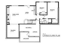 Craftsman Floor Plan - Lower Floor Plan Plan #320-489