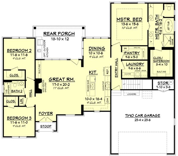 European Floor Plan - Main Floor Plan Plan #430-110