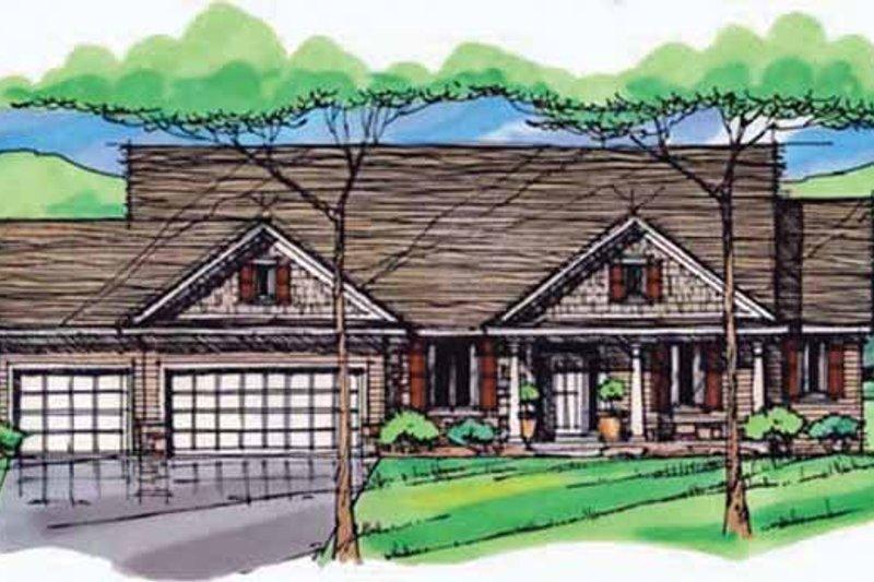 Dream House Plan - European Exterior - Front Elevation Plan #51-979