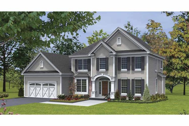 Traditional Exterior - Front Elevation Plan #328-440 - Houseplans.com