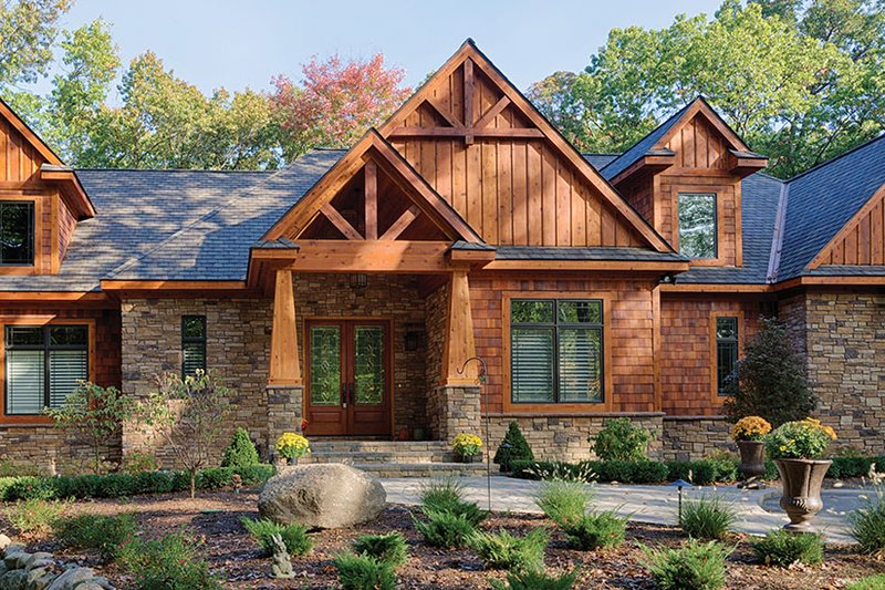 Craftsman Exterior - Front Elevation Plan #1057-1 - Houseplans.com