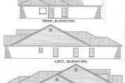 Traditional Style House Plan - 3 Beds 2 Baths 1425 Sq/Ft Plan #17-196 Exterior - Rear Elevation