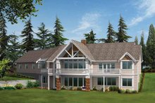 Craftsman Exterior - Rear Elevation Plan #132-338