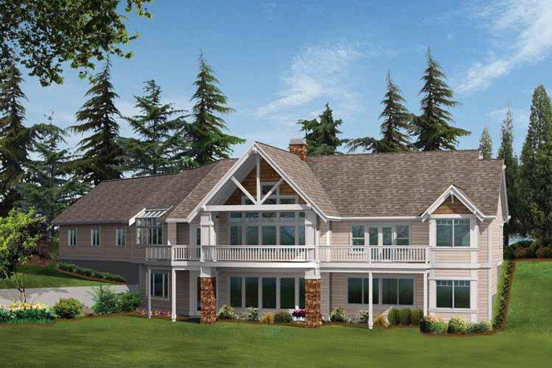 Craftsman Exterior - Rear Elevation Plan #132-338 - Houseplans.com
