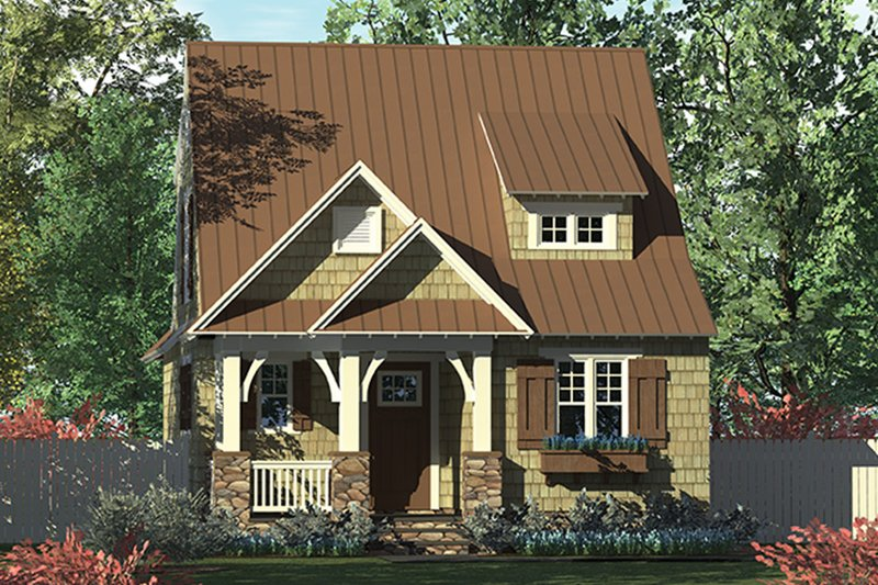 Architectural House Design - Craftsman Exterior - Front Elevation Plan #453-634
