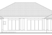 Mediterranean Style House Plan - 4 Beds 4.5 Baths 3831 Sq/Ft Plan #930-443 Exterior - Rear Elevation
