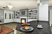 Traditional Style House Plan - 3 Beds 2 Baths 1611 Sq/Ft Plan #44-236 Interior - Family Room