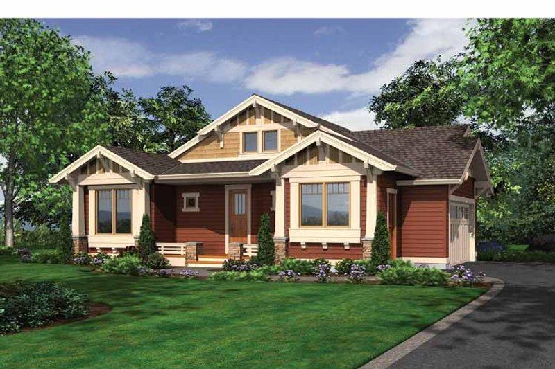 Craftsman Exterior - Front Elevation Plan #132-532 - Houseplans.com