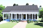 Country Style House Plan - 2 Beds 2 Baths 1152 Sq/Ft Plan #44-159 Exterior - Front Elevation