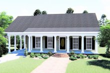 Home Plan - Country Exterior - Front Elevation Plan #44-159