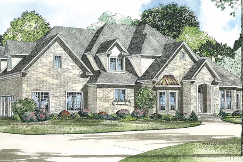 Traditional Exterior - Front Elevation Plan #17-2675 - Houseplans.com