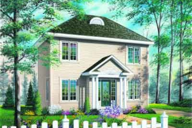 European Exterior - Front Elevation Plan #23-608 - Houseplans.com