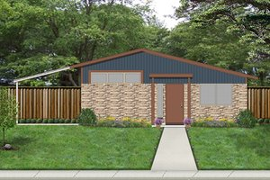 Beach Exterior - Front Elevation Plan #84-511