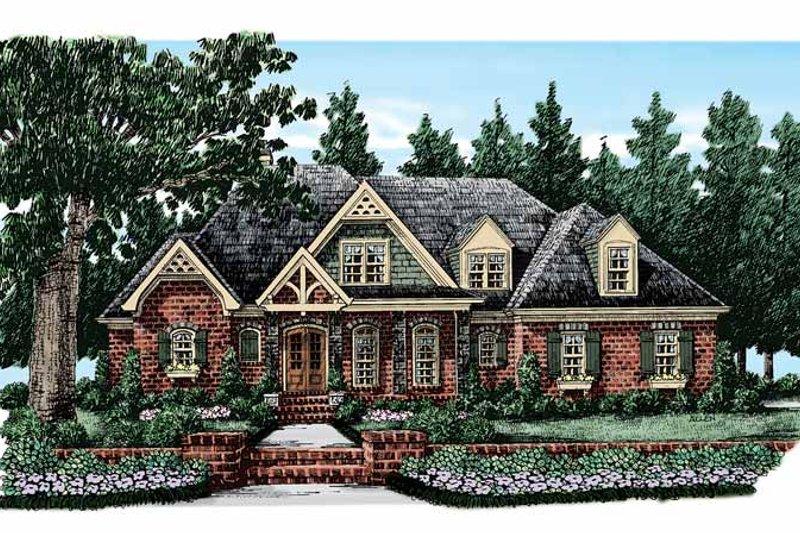 Dream House Plan - European Exterior - Front Elevation Plan #927-368