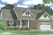 Classical Exterior - Front Elevation Plan #17-2778