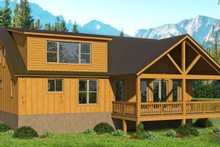 Dream House Plan - Cottage Exterior - Rear Elevation Plan #932-318