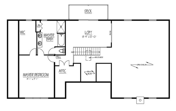 Country Floor Plan - Upper Floor Plan Plan #1061-36