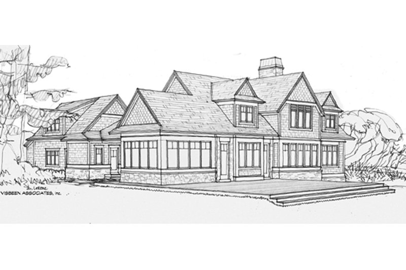 Craftsman Exterior - Rear Elevation Plan #928-254 - Houseplans.com