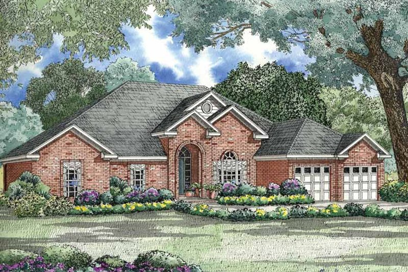 Ranch Exterior - Front Elevation Plan #17-2792