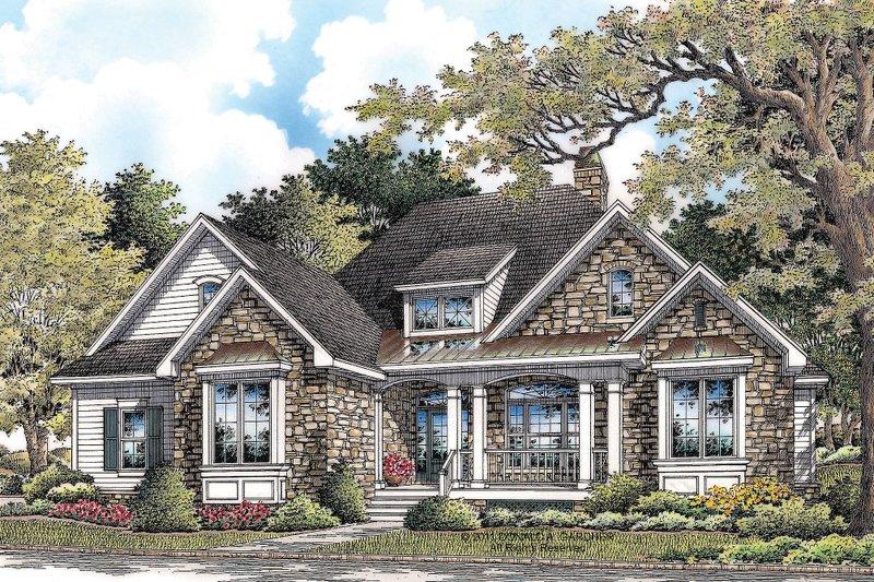 Architectural House Design - Craftsman Exterior - Front Elevation Plan #929-6