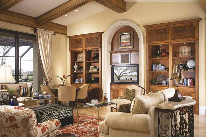 Mediterranean Interior - Family Room Plan #930-92 - Houseplans.com