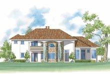 Home Plan - Mediterranean Exterior - Rear Elevation Plan #930-423