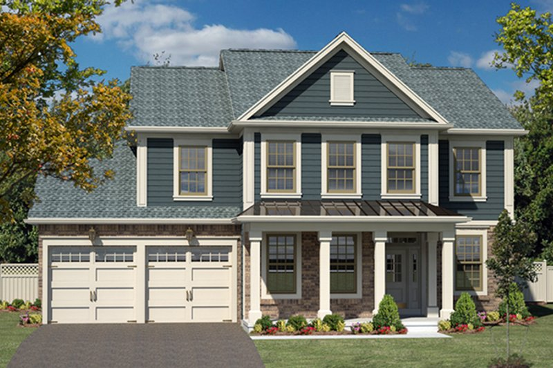 Colonial Exterior - Front Elevation Plan #316-278 - Houseplans.com