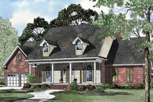 Classical Exterior - Front Elevation Plan #17-3100